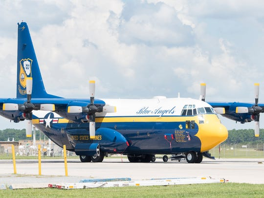 A newer Blue Angels' Fat Albert at the Naval Air Station Pensacola. Celebrate the historic service of Fat Albert aircraft '891' at the Naval Aviation Museum on Saturday.