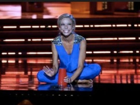 Miss New York Kira Kazantsev performs during the talent portion of the Miss America 2015 pageant, Sunday, Sept. 14, 2014, in Atlantic City, N.J. Kazentsev was crowned Miss America 2015 during the event. (AP Photo/Mel Evans)
