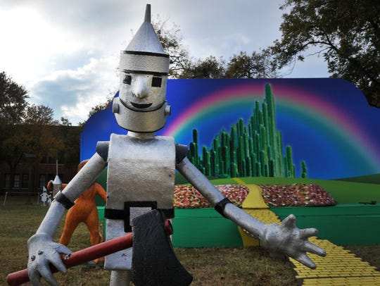 The Wizard of Oz display is one of several attractions that draw crowds to the Midwestern State University-Burns Fantasy of Lights. The lights will come on at dusk on Nov. 20 and light each night through Christmas.