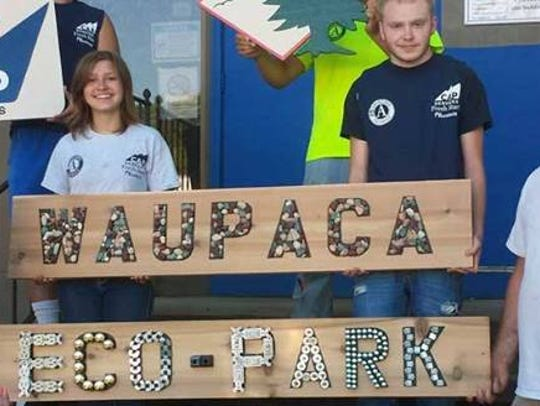 The new Waupaca Eco-Park will be dedicated on Sept.