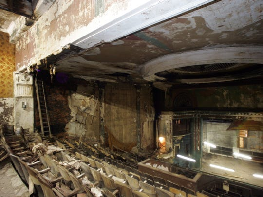 The Queen Theatre as seen from the balcony as renovations began in December 2007.