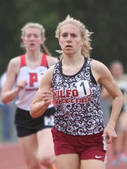 Milford junior Victoria Heiligenthal won the 800-meter