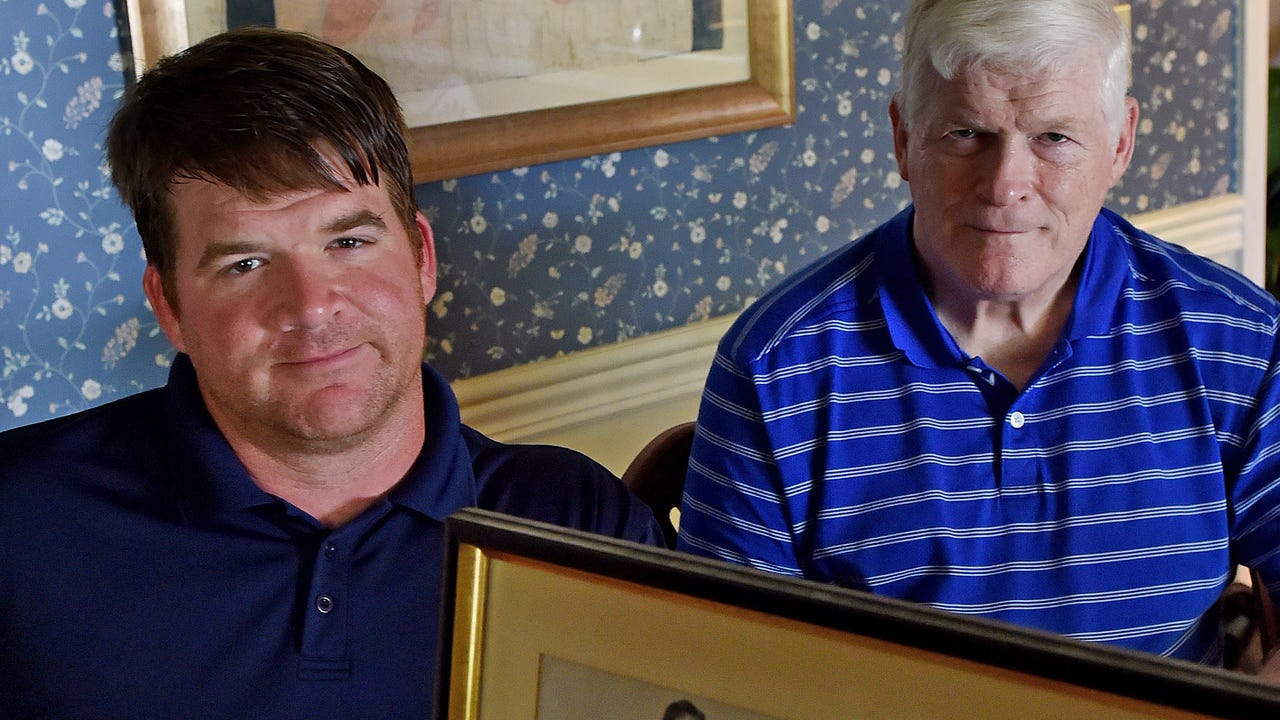 Peter Glover, 33, and his father, Bill, talk about their father and grandfather, Will Glover.