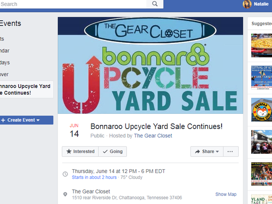 The Gear Closet's Bonnaroo Upcycle Yard Sale ends at