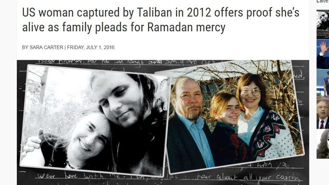 Screen grab from Circa of the news website's article on Caitlan Coleman's parents efforts to secure the release of their daughter, son-in-law and two grandchildren. Read Circa's article here: http://bit.ly/298LJdI