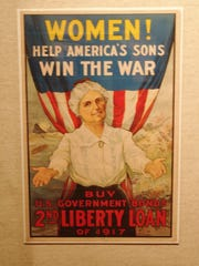 A photo of one of the original WWI posters that is part of the Remembering The Great War exhibit at the Johnson-Humrickhouse Museum.