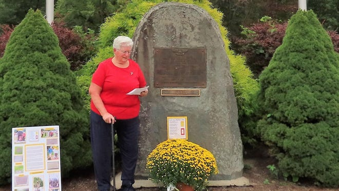 Katherine Lemon of Matamoras, Pa., pulled together a small, heartfelt ceremony for Gold Star Mother's Day.