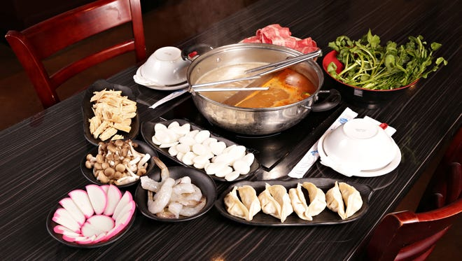 A look at the ingredients served by a hotpot restaurant in Phoenix.