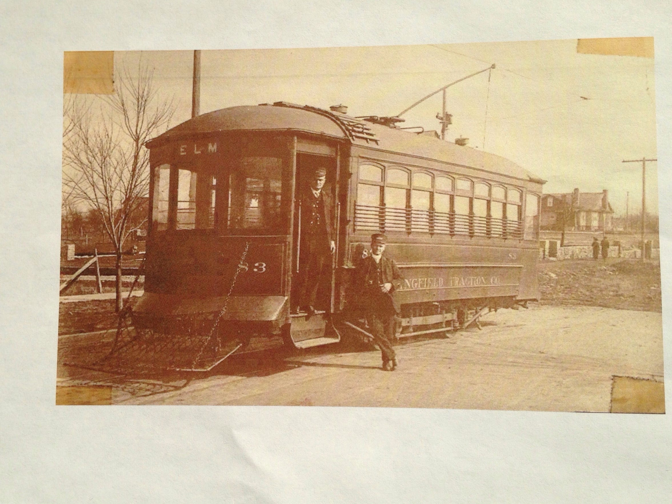 This street car is at the intersection of Pickwick
