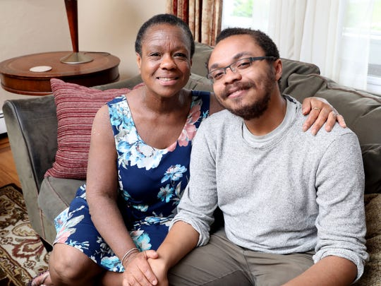 "Joan Grangenois-Thomas and her son Kyle Thomas, 22, at home in Port Chester, May 31, 2018. The mother and son spoke about raising a son in the ""Me Too"" era."