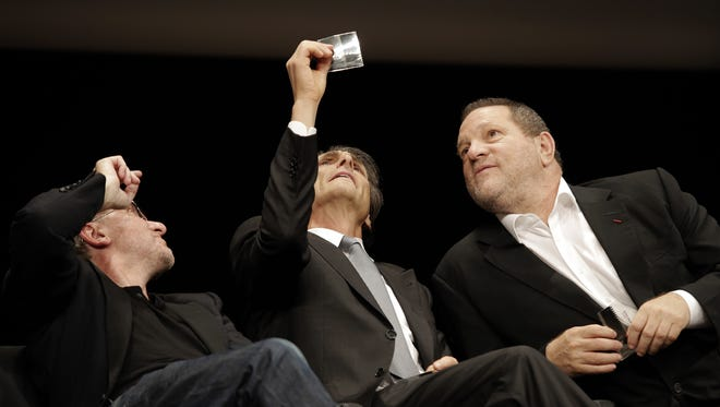 Harvey Weinstein, right, at a film festival in 2013.