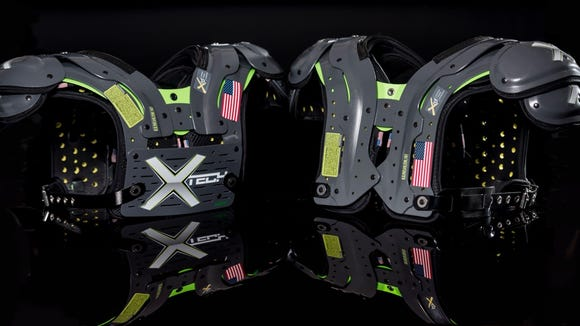 XTECH Pads, a high-level shoulder pad used by over