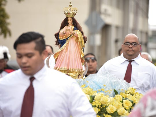 The Santa Marian Kamalen, or Our Lady of Camarin statue,