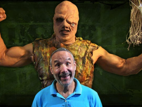 Lloyd Kaufman (shown with one of his creations, the Toxic Avenger) is the head of low-budget horror studio Troma Entertainment. He'll be one of the judges at this year's Twisted Dreams Film Festival.