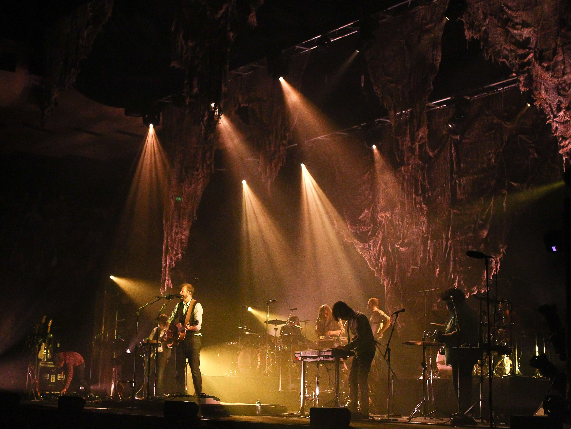 Justin Vernon of Bon Iver performs on stage at the