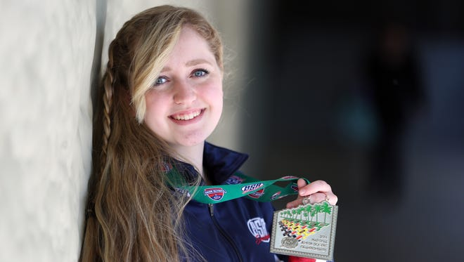 North Salem High School sophomore Taylor Gibson won the American Legion national championship in precision shooting.