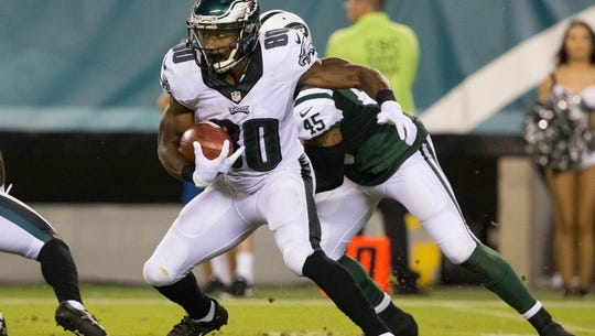 Paul Turner led the Eagles in receiving and receiving yards during the four preseason games. He was released Sunday.