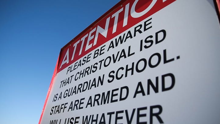 Read Texas public school district policies about armed teachers and staff via a searchable database