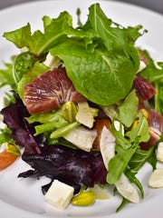 Blood orange and shaved fennel salad at Starry Night Cafe in Ferrisburgh, last week.