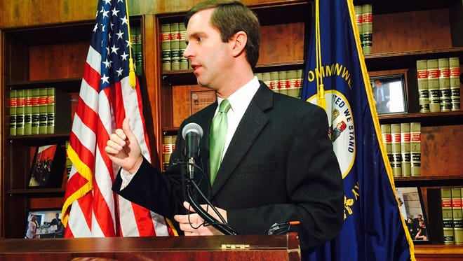 Beshear says case is reason for Bevin to pause, end 'the name calling' & work together.