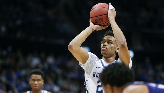 PJ Washington played with his injured left pinky finger wrapped throughout the spring semester, including a NCAA Tournament loss to Kansas State.