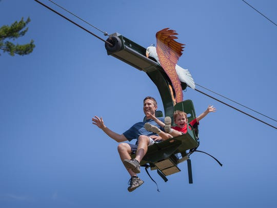 The Soaring Eagle Zip Line at the Shell Factory
