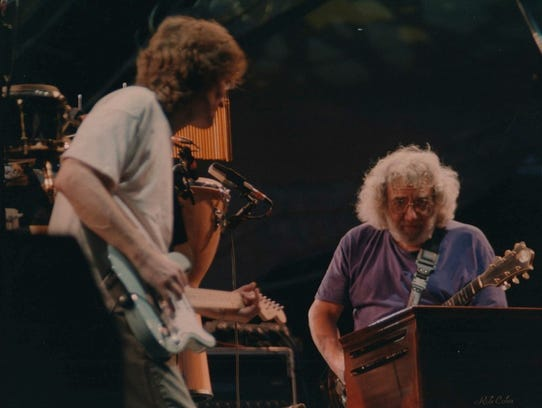 Jerry Garcia of the Grateful Dead (right) is one of