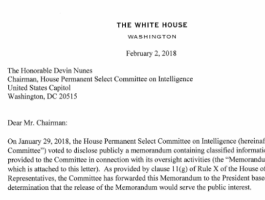 The White House release of the memo.