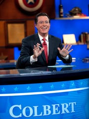 "Host Stephen Colbert appears during the ""Been There:"
