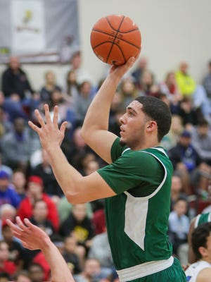 Chino Hills senior LiAngelo Ball puts up a shot during the Huskies' 50th consecutive victory.