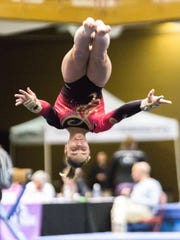 An athlete from Rose's Gymnastics based in Greenville,