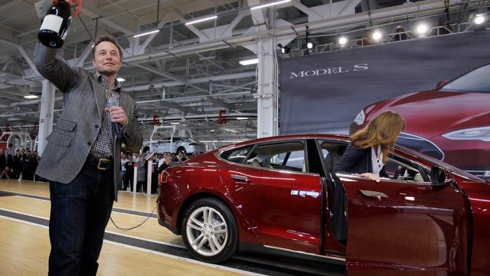 Tesla plans to restart electric car production at California plant after coronavirus shutdown