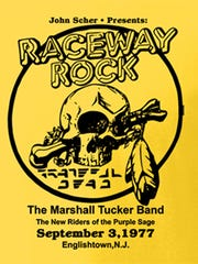 A poster from the Sept. 3, 1977 Grateful Dead show.