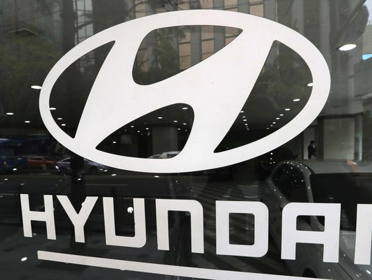 In this oct 26 2016 photo the logo of hyundai motor co is
