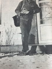 Keith Sheffer persevered through two inches of snow and frigid temperatures during the week of January 14th, 1981 to deliver mail to Morganfield residents.