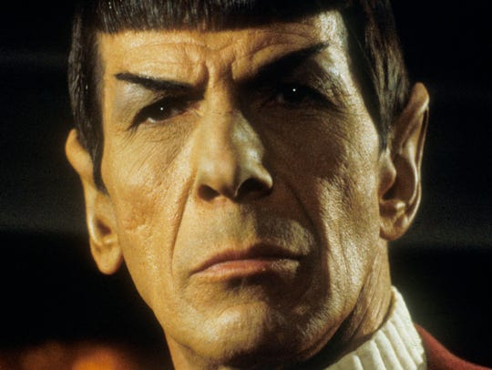 "Leonard Nimoy as Mr. Spock in ""Star Trek II: The Wrath"