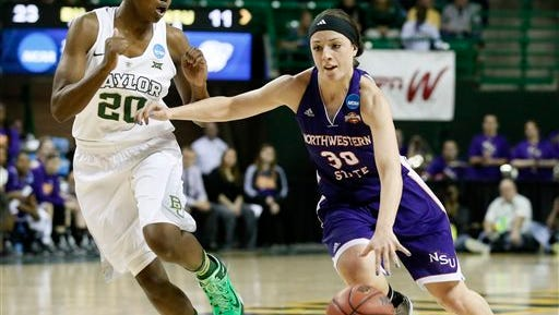 Northwestern State 's Beatrice Attura (30) and the Lady Demons play at Incarnate Word on Saturday.