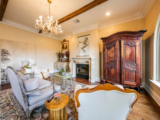 The beautiful living area is both gracious and inviting.