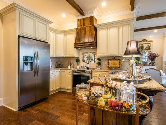 The beautiful kitchen has everything for the gourmet