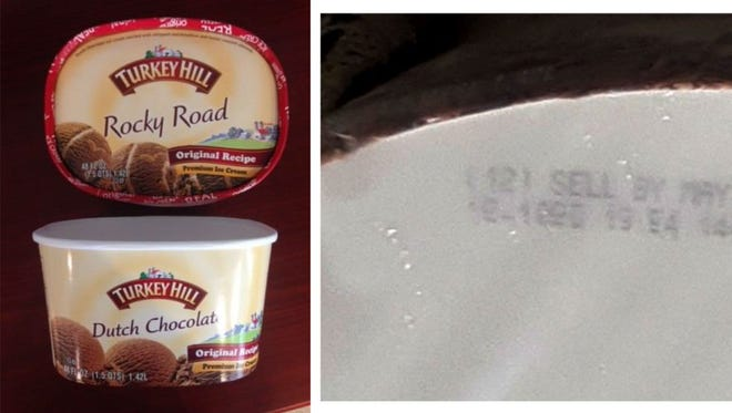 Turkey Hill Dairy has recalled select packages of Dutch Chocolate Premium Ice Cream because the package may contain Rocky Road Premium Ice Cream instead of Dutch Chocolate.