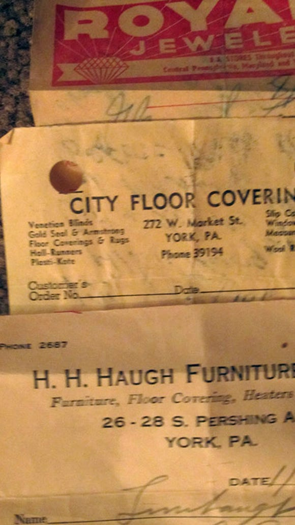 Reader Lorie Redding had shared this image of some receipts from former York County businesses in 2015. One of today's Ask Joan questions refers to the H.H. Haugh store seen here.