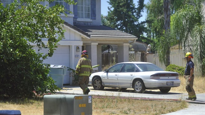 Visalia Fire Department responded to a house fire near Elowin Avenue and Demaree Street just after 12:30 p.m.