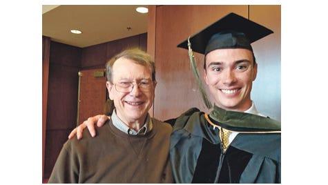 Johnathan Lester fulfills a goal of attending his grandson's graduation from the University of Iowa College of Pharmacy 2015.