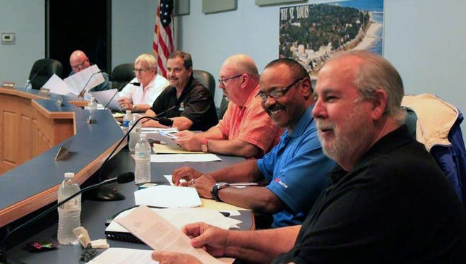 Bay St. Louis zoning commissioners meet in 2016.