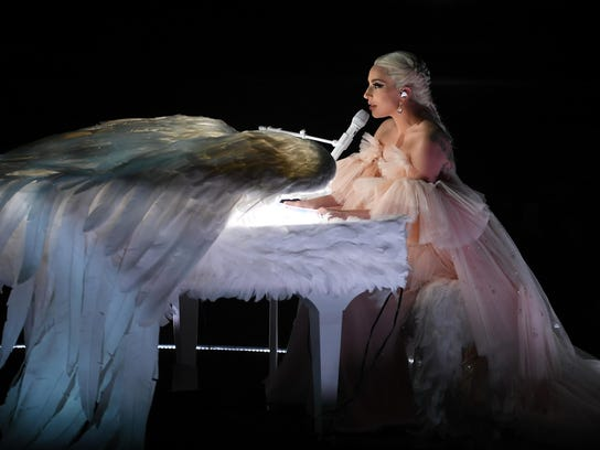 """Lady Gaga performs """"Joanne"""" onstage during the 60th"""