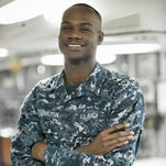 Airman Dacaus Hamilton, a 2012 Robert E. Lee High School graduate and Montgomery native, is serving on one of the world's largest warships, the U.S. Navy aircraft carrier USS Ronald Reagan.