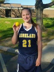 Highland girls lacrosse player Eliz Fino poses with