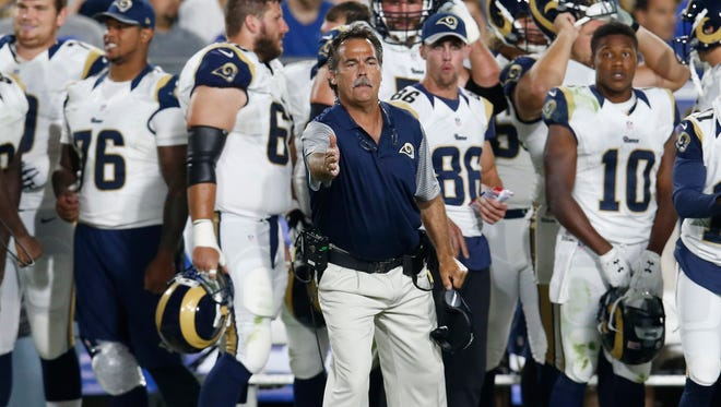 The pressure is on Jeff Fisher and the Rams ti win over the L.A. fan base. The Rams went 56-109 in their last 11 seasons in St. Louis, with losing records the last four years with Fisher as head coach.