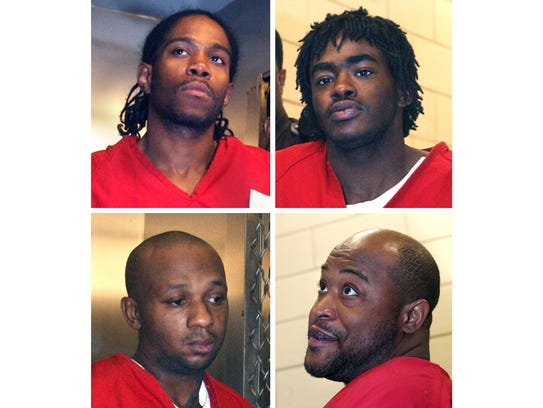 Clockwise from top left: Davis, Coleman, Hobson, Frazier