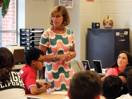 Karen Sloan, 8th grade teacher at Southern Middle School.